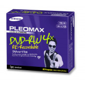 DVD-RW Samsung Pleomax 4.7GB, 1-4X, Jewel Case, 5 Bucati, Second Hand Software & Diverse