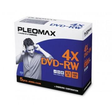 DVD-RW Samsung Pleomax 4.7GB, Jewel Case, 5 Bucati, Second Hand Software & Diverse