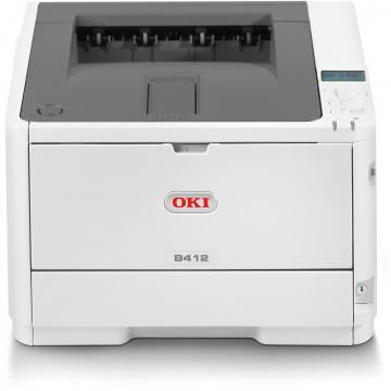 Imprimanta Laser Monocrom OKI B412, Duplex, 33 ppm, USB, Retea, Second Hand Imprimante Second Hand