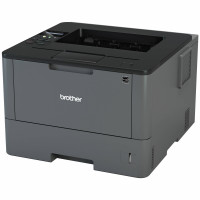 Imprimanta Laser Monocrom Brother HL-L5200DW, Duplex, A4, 40ppm, 1200 x 1200, USB, Retea, Wireless, Toner si Drum Noi