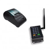 Kit Wireless de Imprimare Etichete 4IPNET, Imprimanta Termica PRT100 + SDS200W, 52mm/sec, 802.11 b/g/n, Second Hand Echipamente POS