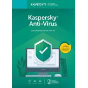 Licenta Retail Kaspersky Anti-Virus - protectie premiata, eficienta si securitate usor de gestionat - valabila pentru 1 an, 1 echipament Software