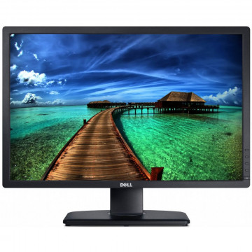 Monitor DELL U2412M, LED, Panel IPS, 24 inch, 1920 x 1200 WUXGA, VGA, DVI, 5 Porturi USB, Widescreen, Grad A-, Second Hand Monitoare cu Pret Redus