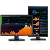 Monitor DELL U2412M, LED, Panel IPS, 24 inch, 1920 x 1200 WUXGA, VGA, DVI, 5 Porturi USB, Widescreen, Grad B, Fara picior