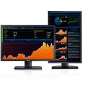 Monitor DELL U2412M, LED, Panel IPS, 24 inch, 1920 x 1200 WUXGA, VGA, DVI, 5 Porturi USB, Widescreen, Grad B, Fara picior, Second Hand Monitoare 23 - 24 Inch