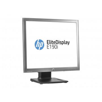 Monitor HP EliteDisplay E190i, 19 Inch IPS LED, 1280 x 1024, VGA, DVI, DisplayPort, USB, Grad A-, Second Hand Monitoare cu Pret Redus