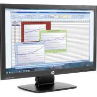 Monitor HP ProDisplay P222VA, 21.5 Inch Full HD, VGA, DisplayPort, Fara picior