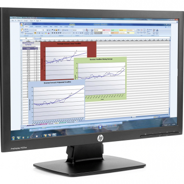 Monitor HP ProDisplay P222VA, 21.5 Inch Full HD, VGA, DisplayPort, Grad A-, Second Hand Monitoare cu Pret Redus