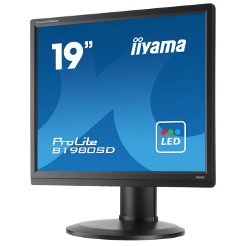 Monitor iiYama ProLite B1980SD, 19 Inch LCD, 1280 x 1024, VGA, DVI, Second Hand Monitoare cu Pret Redus