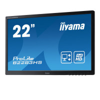 Monitor Iiyama B2283HS, 22 Inch Full HD LED, VGA, HDMI, Display Port, Fara picior