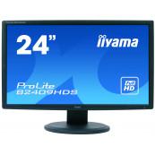 Monitor LCD iiYama ProLite B2409HDS, 24 Inch Full HD, VGA, DVI, HDMI, Second Hand Monitoare Second Hand