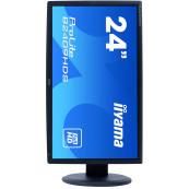 Monitor LCD iiYama ProLite B2409HDS, 24 Inch Full HD, VGA, DVI, HDMI, Fara Picior, Second Hand Monitoare 24 Inch