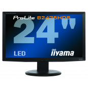 Monitor LED iiYama ProLite B2475HDS, 24 Inch Full HD, VGA, DVI, HDMI, Fara Picior, Second Hand Monitoare Second Hand