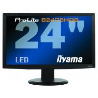 Monitor LED iiYama ProLite B2475HDS, 24 Inch Full HD, VGA, DVI, HDMI, Fara Picior