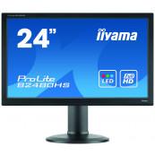 Monitor LED iiYama ProLite B2480HS, 24 Inch Full HD, VGA, DVI, HDMI, Second Hand Monitoare Second Hand