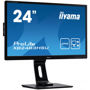Monitor Iiyama XB2483HSU, 24 Inch, 1920 x 1080, VGA, DVI, Display Port, USB, Second Hand Monitoare Second Hand
