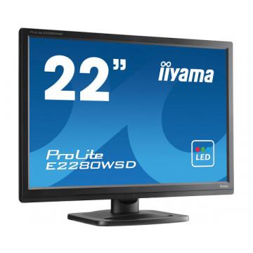 Monitor Iiyama E2280WSD, 22 Inch LED, 1680 x 1050, VGA, DVI, Grad A-, Second Hand Monitoare cu Pret Redus