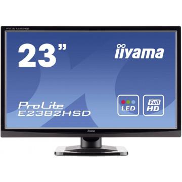 Monitor LED iiYama ProLite E2382HSD, 23 Inch Full HD, VGA, DVI, Second Hand Monitoare Second Hand