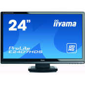 Monitor Iiyama E2407HDS, 24 Inch TN, 1920 x 1080, VGA, DVI, HDMI, Fara picior, Second Hand Monitoare Second Hand