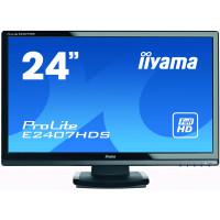 Monitor Iiyama E2407HDS, 24 Inch TN, 1920 x 1080, VGA, DVI, HDMI, Fara picior
