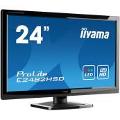 Monitor Iiyama E2482HSD, 24 Inch TN, 1920 x 1080, VGA, DVI, Fara picior, Second Hand Monitoare cu Pret Redus