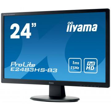 Monitor Iiyama E2483HS, TN 24 Inch, 1920 x 1080, VGA, Display Port, HDMI, Second Hand Monitoare Second Hand