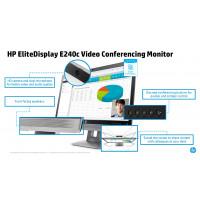 Monitor HP EliteDisplay E240C LED IPS Full HD, 24 Inch, VGA, HDMI, USB, Webcam, Fara picior, Grad A-
