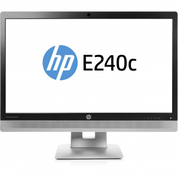 Monitor HP EliteDisplay E240C LED IPS Full HD, 24 Inch, VGA, HDMI, USB, Webcam, Grad B, Second Hand Monitoare 23 - 24 Inch