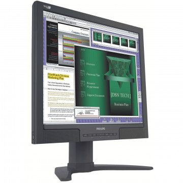 Monitor LCD Philips 190B7, 19 inch, 1280 x 1024, VGA, DVI, USB, Audio, Boxe integrate Monitoare Second Hand