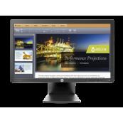 Monitor LED HP E201, 20 inch, 5 ms, VGA, DVI, Fara picior Monitoare cu Pret Redus