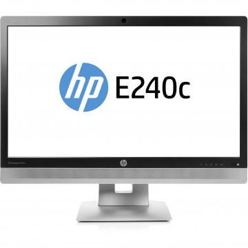 Monitor Second Hand HP EliteDisplay E240C, 24 inch, IPS, W LED, VGA, HDMI, USB, Webcam, Full HD Monitoare Second Hand
