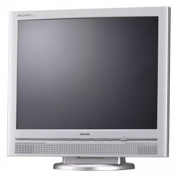 Monitor PHILIPS 200P, 20 Inch LCD, 1600 x 1200, VGA, DVI, Boxe integrate, Grad A-, Second Hand Monitoare cu Pret Redus