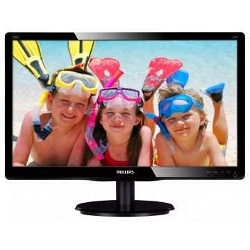 Monitor Philips 200V4Q, 20 Inch Full HD LED, VGA, DVI, Second Hand Monitoare Second Hand