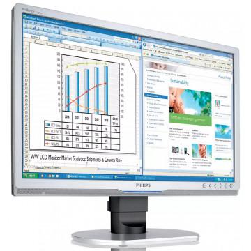 Monitor Philips 220BW, 22 Inch LCD, 1680 x 1050, VGA, DVI, USB, Second Hand Monitoare Second Hand
