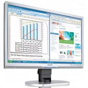 Monitor Philips 220B, 22 Inch LCD, 1680 x 1050, VGA, DVI, USB, Grad A-, Second Hand Monitoare cu Pret Redus