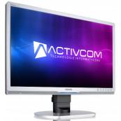 Monitor PHILIPS 220P1, 22 Inch LCD, 1680 x 1050, VGA, DVI, Fara picior, Second Hand Monitoare cu Pret Redus
