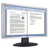 Monitor Philips 220AW, 22 Inch LCD, 1680 x 1050, VGA, DVI, Fara picior, Second Hand Monitoare cu Pret Redus