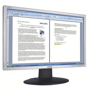 Monitor Philips 220WS8FS, 22 Inch LED, VGA, DVI, 16.7 Milioane Culori, Second Hand Monitoare Second Hand