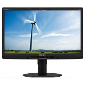 Monitor Philips 221B3L, 22 Inch LED Full HD, VGA, DVI, USB, Boxe Integrate, Culoare Gri, Second Hand Monitoare Second Hand