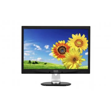 Monitor LCD PHILIPS 240P4Q, 24 Inch, 1920 x 1200, Display Port, VGA, DVI, USB 2.0, Second Hand Monitoare Second Hand