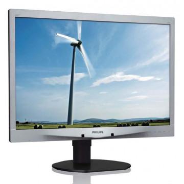Monitor Philips Brilliance 240S, 24 Inch Full HD, VGA, DVI, Boxe integrate, Second Hand Monitoare Second Hand