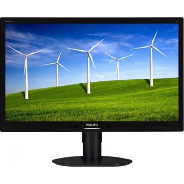 Monitor LPHILIPS 241B4L, 24 Inch Full HD LCD, VGA, DVI, Second Hand Monitoare Second Hand