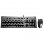 Kit Tastatura + Mouse cu fir A4Tech, KM-720 + OP-620D, USB, negru Periferice