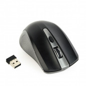 Mouse Optic Wireless Gembird MUSW-4B-04-GB, 1600DPI, Negru+Gri Periferice