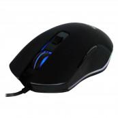 Mouse Spacer Gaming, Cu fir, USB, Optic, 2400 dpi, Butoane/scroll 6/1, Negru, Iluminare Periferice