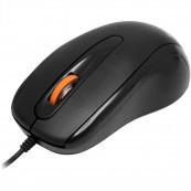 Mouse Optic Spacer SPMO-F01, 1000DPI, 3 butoane, 1 rotita scroll, USB, Negru Periferice