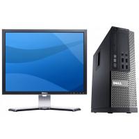 Calculator DELL Optiplex 3020 SFF, Intel Core i5-4570s 2.90 GHz, 8GB DDR3, 500GB SATA, DVD-ROM + CADOU Monitor Dell 2007FPB LCD, 1600 x 1200, VGA, USB, 20 Inch
