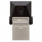 Memorie USB 3.0, microUSB 3.0 KINGSTON 32 GB, Profil mic,  OTG, Argintiu & negru, Carcasa metal & plastic Periferice