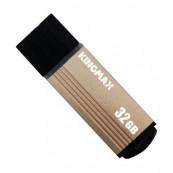 Memorie USB 2.0 KINGMAX 32 GB, Cu capac, Auriu & negru, Carcasa aluminiu Periferice