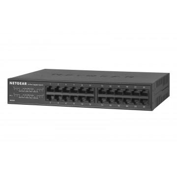Switch NETGEAR GS324, 24 x 10/100/1000Mbps RJ-45 Ports, Second Hand Switch-uri